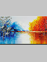 cheap -Hand-Painted Abstract Landscape Horizontal, Modern Oil Painting Home Decoration One Panel