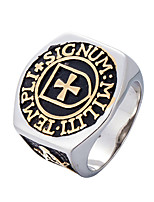 cheap -Men's Statement Ring Casual Cool Stainless Circle Costume Jewelry Daily Street