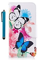 cheap -Case For Apple iPhone X iPhone 8 Plus Card Holder Wallet with Stand Flip Magnetic Full Body Cases Butterfly Hard PU Leather for iPhone 8