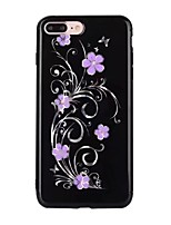 abordables -Funda Para Apple iPhone X iPhone 8 Diseños Funda Trasera Flor Suave TPU para iPhone X iPhone 8 Plus iPhone 8 iPhone 7 Plus iPhone 7