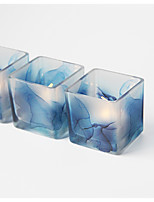abordables -Moderne/Contemporain Style Simple Verre Bougeoirs 1pc, Bougie / Bougeoir
