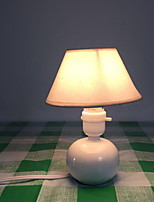 cheap -Traditional/Classic Decorative Table Lamp For Bedroom Ceramic White
