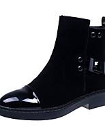 preiswerte -Damen Schuhe Nubukleder Winter Herbst Komfort Springerstiefel Stiefel Flacher Absatz Booties / Stiefeletten Mittelhohe Stiefel für Normal