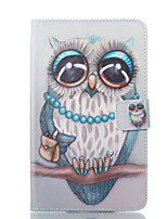 cheap -Case For Samsung Galaxy Tab A 7.0 (2016) Wallet with Stand Flip Pattern Auto Sleep/Wake Up Full Body Cases Owl Hard PU Leather for Tab A