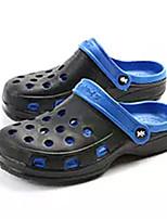 Недорогие -Муж. обувь Полиуретан Лето Вулканизованная обувь Тапочки и Шлепанцы для Повседневные Зеленый Синий Черный/Красный Черный / синий Хаки