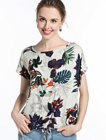 cheap -Women's Polyester T-shirt - Floral