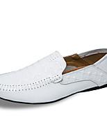 Недорогие -Муж. обувь Кожа Весна Осень Мокасины Мокасины и Свитер для Повседневные Белый Черный Коричневый
