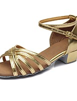 "cheap -Children's Latin Leatherette Sandal Heel Training Buckle Chunky Heel Gold 2"" - 2 3/4"" Customizable"