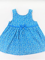 cheap -Girl's Daily School Polka Dot Dress, Cotton Summer Sleeveless Casual Active Blue Orange