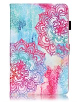 cheap -Case For Samsung Galaxy Tab E 9.6 Card Holder Wallet with Stand Pattern Auto Sleep/Wake Up Full Body Cases Mandala Hard PU Leather for