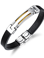 cheap -Men's Bangles ID Bracelets , Fashion Cool Leather Line Jewelry Daily Going out
