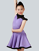 cheap -Latin Dance Dresses Girls' Performance Spandex Ruching Sleeveless Dress