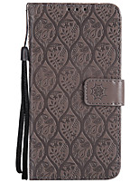 cheap -Case For Sony Xperia XZ Xperia XA1 Card Holder Wallet with Stand Flip Pattern Full Body Cases Solid Color Lace Printing Hard PU Leather
