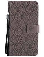 baratos -Capinha Para Sony Xperia XZ Xperia XA1 Porta-Cartão Carteira Com Suporte Flip Estampada Capa Proteção Completa Côr Sólida Lace Impressão