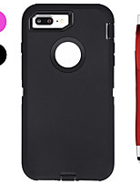 cheap -Case For Apple iPhone X iPhone 8 Plus Shockproof Water/Dirt/Shock Proof with Windows Full Body Cases Solid Color Soft Silicone for iPhone