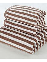 abordables -Style frais Serviette de bain, Rayé Qualité supérieure Polyester/Coton Mélange de polyester Serviette