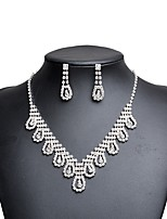 cheap -Women's Cubic Zirconia Rhinestone Imitation Diamond Jewelry Set 1 Necklace Earrings - Classic Vintage Elegant Drop Jewelry Set Drop