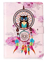cheap -Case For Samsung Galaxy Card Holder Wallet with Stand Pattern Auto Sleep/Wake Up Full Body Cases Owl Hard PU Leather for Tab S3 9.7 Tab E