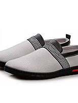 baratos -Homens sapatos Tule Primavera Outono Solados com Luzes Mocassins e Slip-Ons para Casual Marron Cinzento Escuro Cinzento Claro