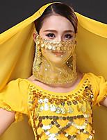 baratos -Dança do Ventre Comum Mulheres Treino Tule Lantejoula Véu