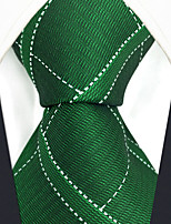 cheap -Men's Vintage Work Casual Silk Necktie - Check