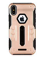 baratos -Capinha Para Apple iPhone X iPhone 8 Com Suporte Capa traseira Armadura Rígida PC para iPhone X iPhone 8 Plus iPhone 8 iPhone 7 Plus