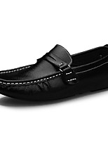 cheap -Men's Shoes Cowhide Spring Fall Moccasin Loafers & Slip-Ons for Casual White Black Brown Blue