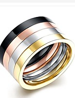 cheap -Men's Band Rings , Fashion Stainless Steel Circle Jewelry Gift Daily