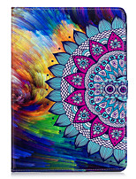 cheap -Case For Apple iPad 10.5 iPad mini 4 Card Holder Wallet with Stand Full Body Cases Mandala Hard PU Leather for iPad Pro 10.5 (2017) iPad