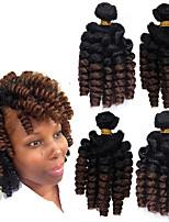abordables -Saniya Curl hinchable Curl Trenzas africanas Cabello estilo jamaicano 1 paquete Trenzas de pelo de ganchillo Trenzas ganchillo pre-loop