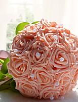 """baratos -Bouquets de Noiva Buquês Casamento Gorgorão 7.48""""(Aprox.19cm) 9.84""""(Aprox.25cm)"""