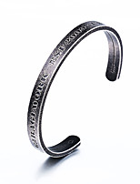 cheap -Men's Bangles , Hiphop Cool Stainless Steel Circle Jewelry Other Daily