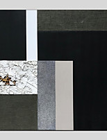 Недорогие -Ручная роспись Абстракция Квадратный, Modern Hang-роспись маслом Украшение дома 1 панель