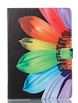 Недорогие -Кейс для Назначение Apple iPad 10.5 iPad (2017) Кошелек со стендом Флип С узором Авто Режим сна / Пробуждение Чехол Цветы Твердый Кожа PU
