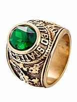 Недорогие -Муж. Массивные кольца Стразы На каждый день Cool нержавеющий Геометрической формы Бижутерия Повседневные Для улицы