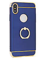 abordables -Funda Para Apple iPhone X iPhone 8 Cromado Soporte para Anillo Ultrafina Funda Trasera Color sólido Dura ordenador personal para iPhone X