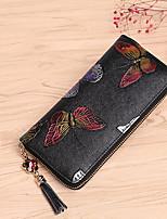 cheap -Women's Bags Cowhide Wristlet Zipper for Formal Office & Career All Seasons Rainbow