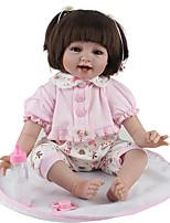 Недорогие -NPK DOLL Куклы реборн Дети 55cm Винил как живой Милый стиль Безопасно для детей Взаимодействие родителей и детей моделирование Милый Non