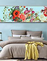 Недорогие -ботанический Цветочные мотивы/ботанический Иллюстрации Предметы искусства,Пластик материал с рамкой For Украшение дома Предметы искусства