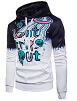 cheap -Men's Daily Casual Geometric Color Block Hooded Hoodie Regular, Long Sleeves Spring Fall