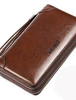 cheap -Men's Bags PU Clutch Zipper for Casual Office & Career All Seasons Black Brown