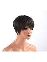 cheap -black short men wig synthetic fiber wig curly capless heat resistant natural wig