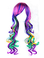 cheap -Synthetic Wig Wavy Side Part With Bangs Capless Purple Lolita Wig 13cm(Approx5inch)