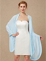cheap -Sleeveless Chiffon Wedding Party / Evening Women's Wrap Shawls