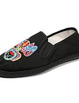 Недорогие -Муж. обувь Ткань Весна Лето Обувь для дайвинга Удобная обувь Мокасины и Свитер Для прогулок Оборки сбоку для Повседневные на открытом