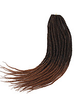 cheap -14inch pre-twisted loop senegalese braids heat resistant synthetic ombre purple brown bug senegalese twist crochet braid hair extension