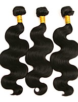 cheap -Brazilian Hair Body Wave Human Hair Weaves 3pcs Natural Color Hair Weaves