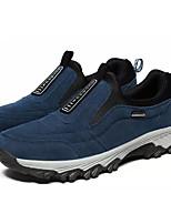 Недорогие -Муж. обувь Замша Весна Осень Удобная обувь Мокасины и Свитер для Повседневные Черный Темно-синий Серый