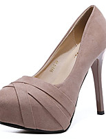 cheap -Women's Shoes Fabric Spring Comfort Heels Stiletto Heel Round Toe for Casual Black Pink