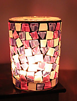 cheap -european-style peach orchid handmade glass mosaic candlestick romantic home decoration bar wedding candle cup